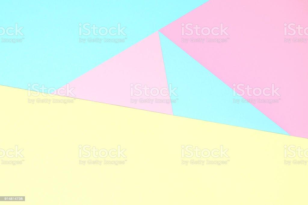 Abstrakte Pastell farbigen Papier Textur Minimalismus Hintergrund. Minimale geometrische Formen und Linien in Pastelltönen gehalten. – Foto