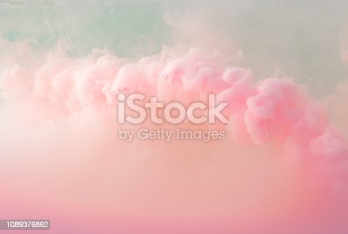 istock Abstract pastel pink color paint with pastel blue background.. 1089376862