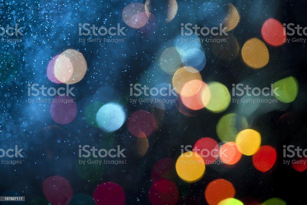 Abstrato patern com spray de água e defocused luzes - foto de acervo