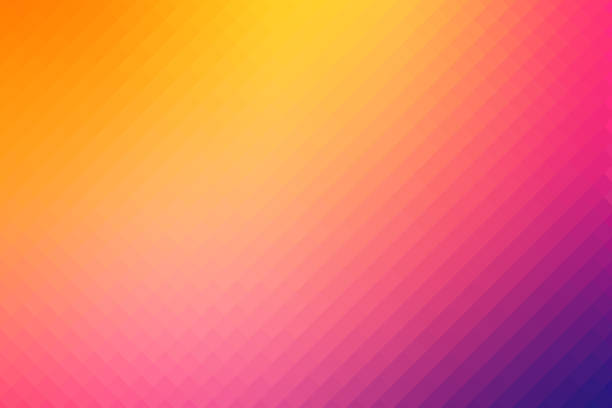 abstract pattern background rainbow spectrum - pixellated stock photos and pictures