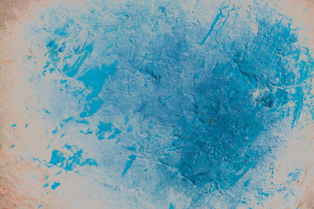 Abstract pattern color paints on the wall as background texture stock photo