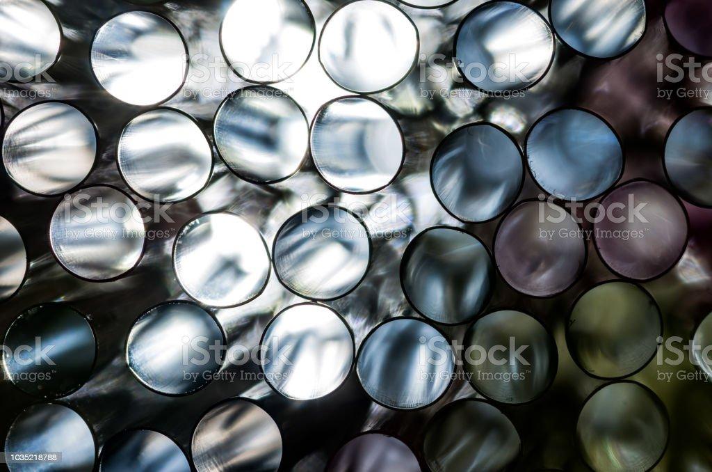 Abstrakte Muster Trinkhalme - monochromatische Kreise – Foto