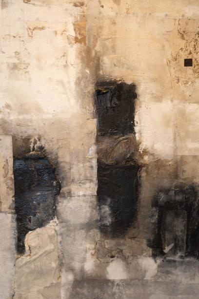 modèle abstrait de l'oeuvre en noir et blanc - art moderne photos et images de collection
