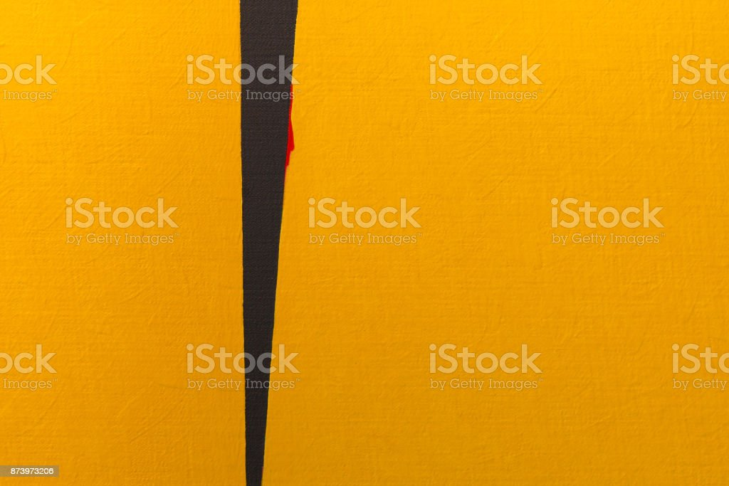 Abstract Pattern from ArtWork in Yellow and Black stock photo