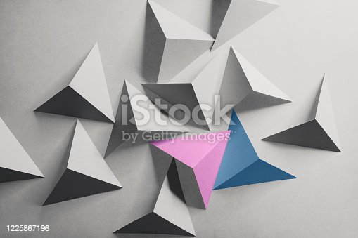 1126531335 istock photo Abstract pattern made paper, triangular shapes 1225867196