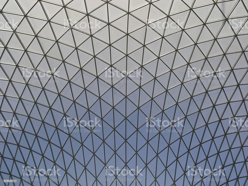 Abstract Pattern - Museum Roof royalty-free stock photo