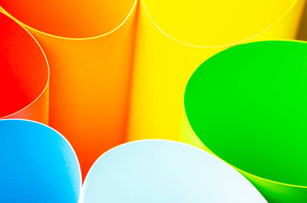 abstract pattern of bright colored paper