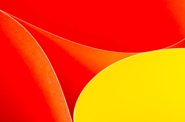 Abstract pattern of bright gradient lines and waves