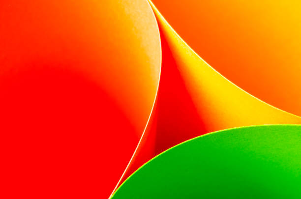 abstract pattern of lines and multicolored materials