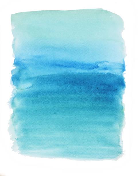 abstrakte muster quadrat mit blauer farbe auf weißem hintergrund - ozean kunst stock-fotos und bilder