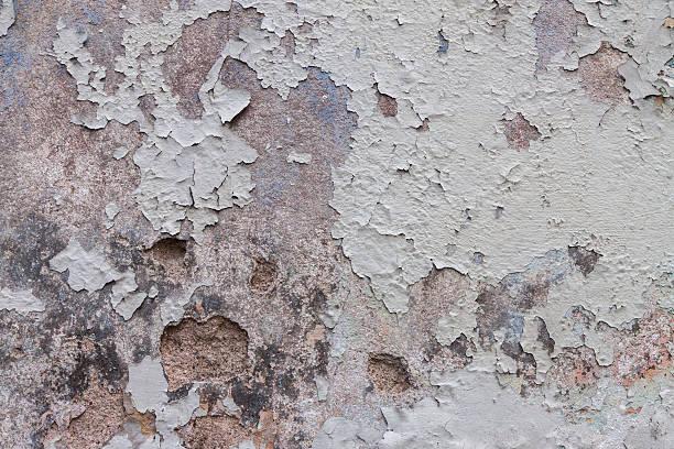 Abstrakte peeling weißer Farbe auf Zement Mauer Textur – Foto