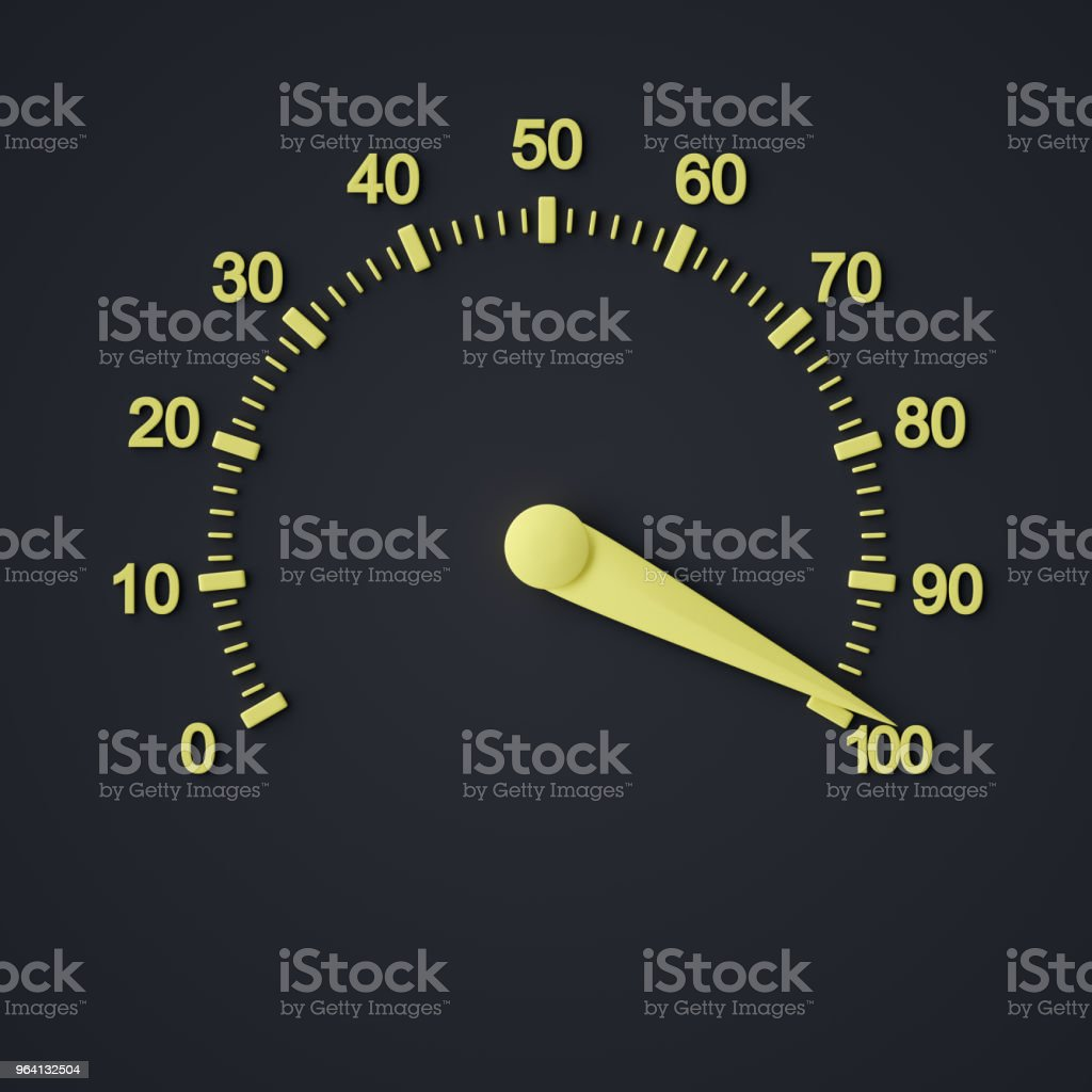 Abstract Performance Meter stock photo