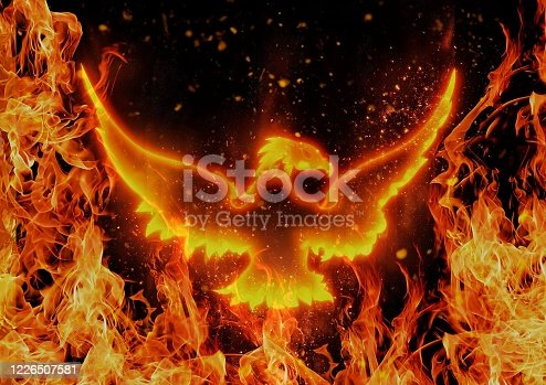istock Abstract phoenix flapping the darkness 1226507581