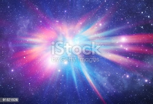 Bright galaxy in deep space