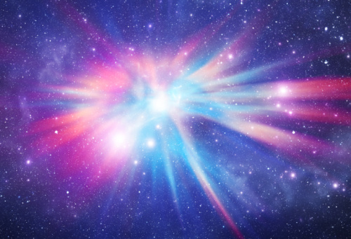 Bright galaxy in deep space
