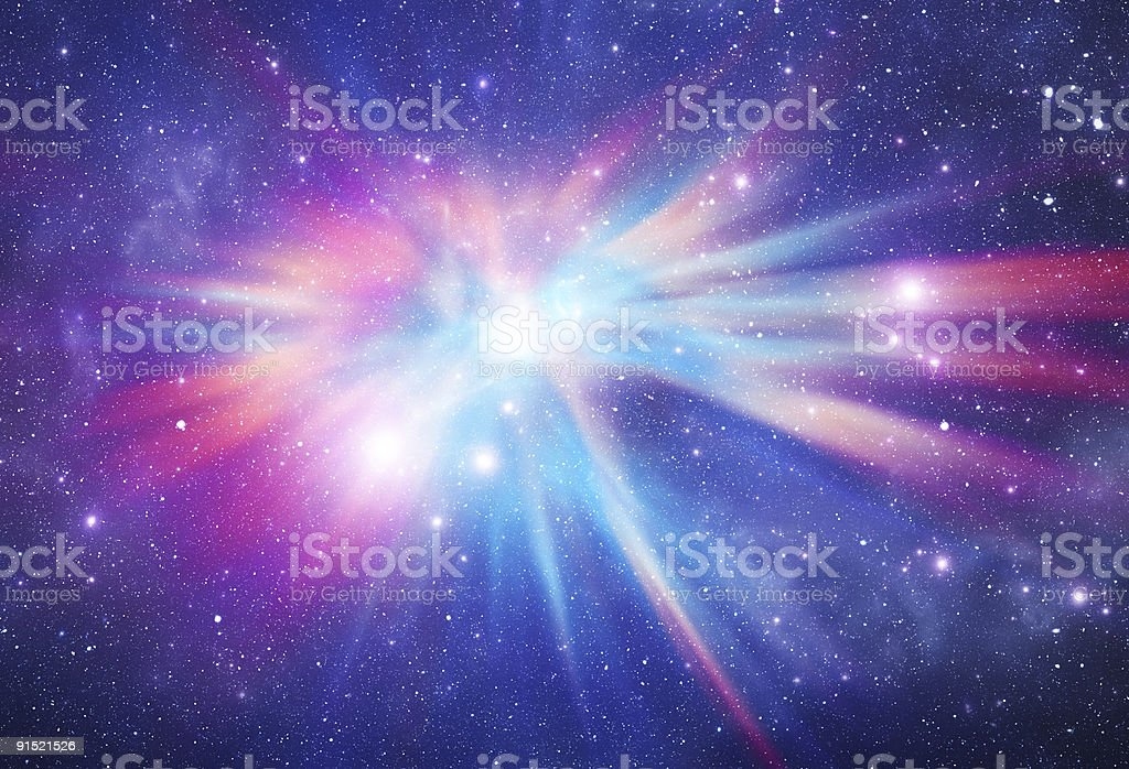 Abstract photo of a colorful space nebula stock photo