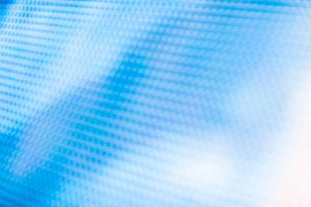 Abstract photo of blue and white LED sign stock photo