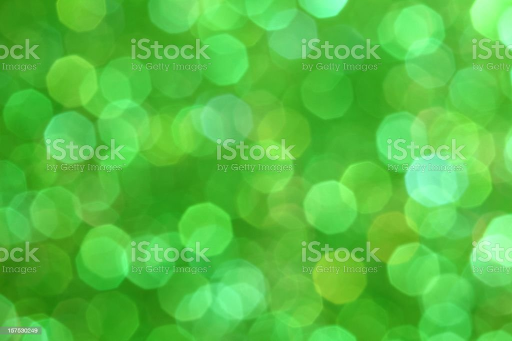 Abstract photo of green fairy lights royalty-free stock photo
