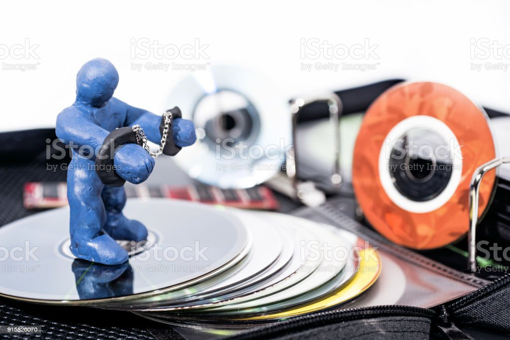 Abstract photo of the fight against content piracy. stock photo