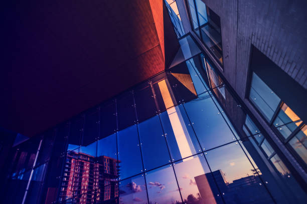 Abstract photography of a mixed use distric stock photo