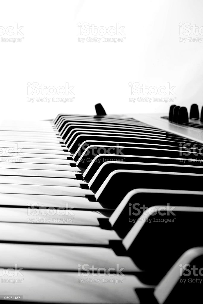 Astratto tasti di pianoforte foto stock royalty-free