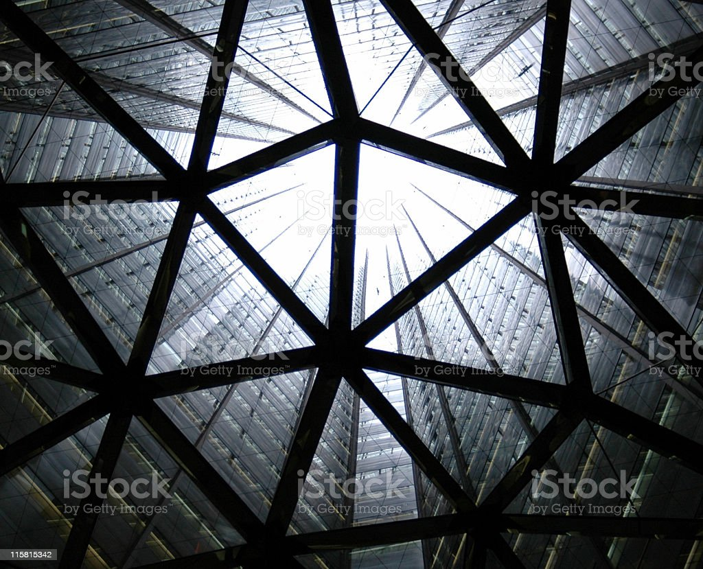 Abstract picture looking up at the sky royalty-free stock photo