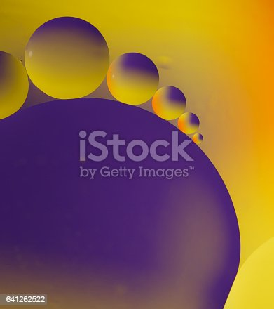 istock Abstract picture of round oil drops 641262522