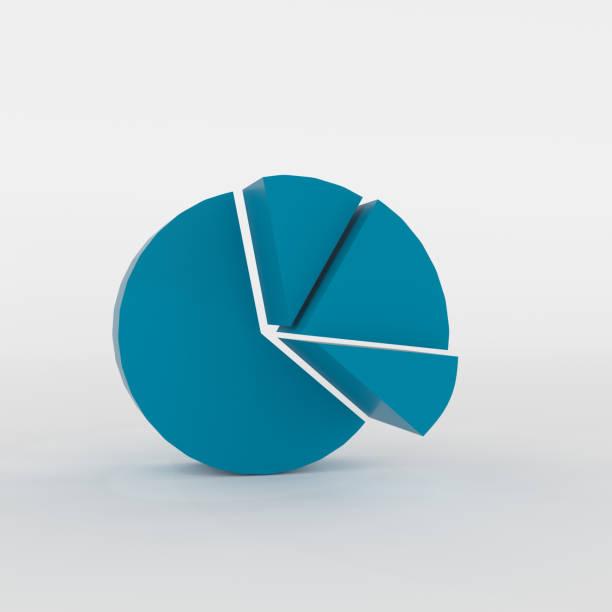 abstract pie chart blocks stock photo