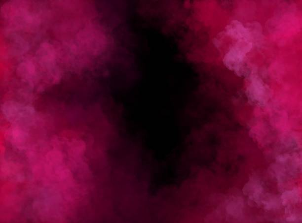 abstract pink and black cloudy painting with brush strokes - wir kształt zdjęcia i obrazy z banku zdjęć