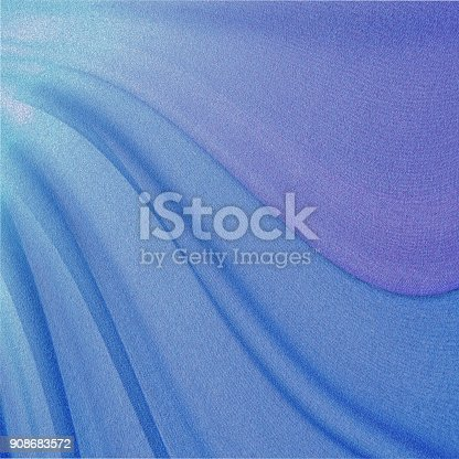 istock Abstract pink and blue wave background 908683572