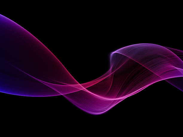 Abstract pink and purple smoke shape stock photo