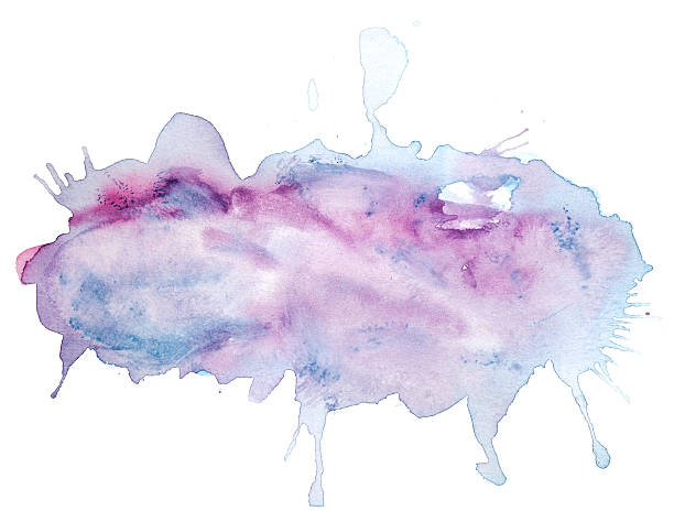 Abstract pink, blue, violet watercolor background stock photo