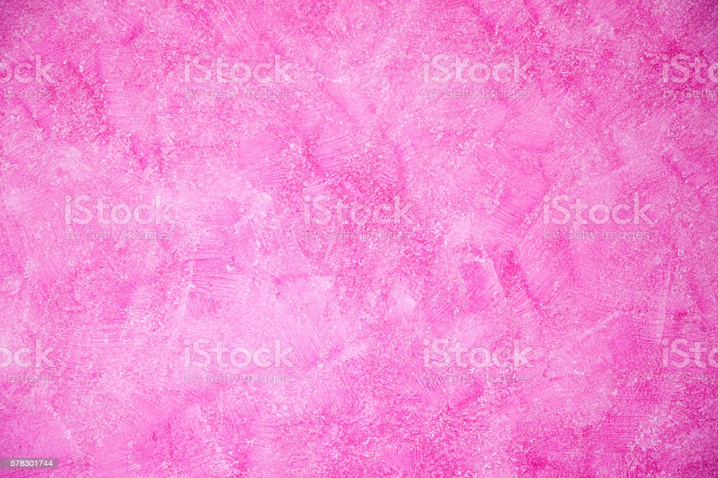Abstract Art Mixed Media Grunge Stock Photo: Abstract Pink Color Paint Designed Grunge On Wall Texture