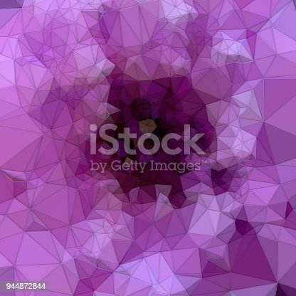 520740170 istock photo Abstract pink colored polygonal mosaic background. Triangular geometric style. 3d rendering 944872844
