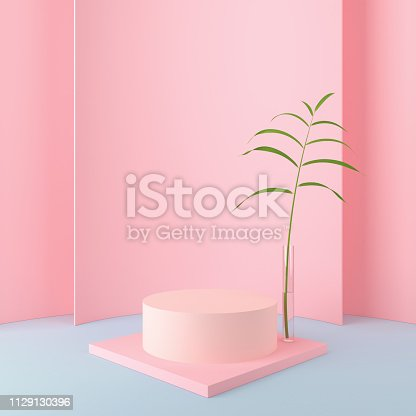 1129130396 istock photo abstract pink geometric shape background. 1129130396