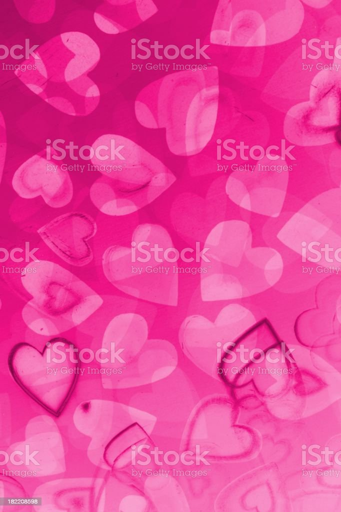 Abstract Pink Hearts Background royalty-free stock photo