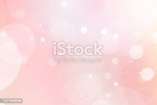 istock Abstract pink rose bokeh light 1071946058