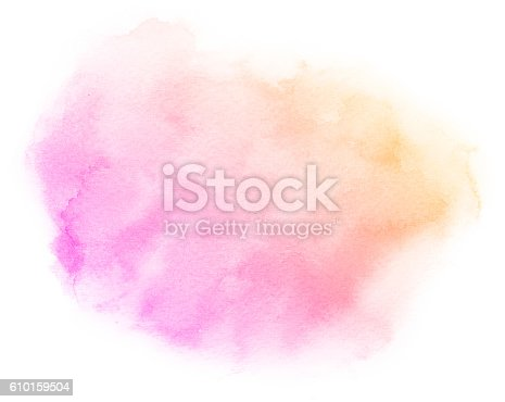 istock Abstract pink watercolor background. 610159504