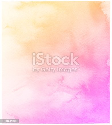 istock Abstract pink watercolor background. 610419610