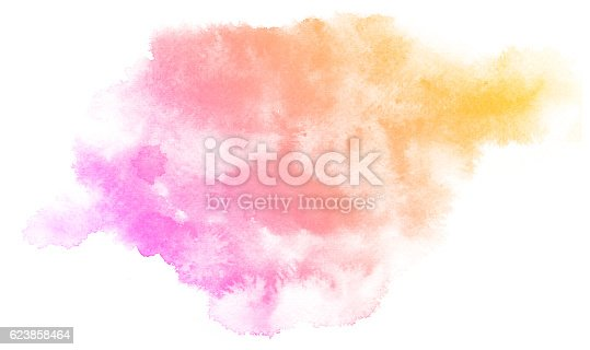 istock Abstract pink watercolor background. 623858464