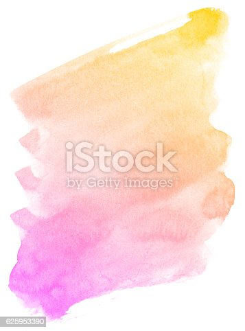 istock Abstract pink watercolor background. 625953390