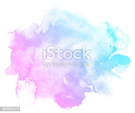 istock Abstract pink watercolor background. 629292478