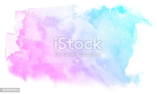 istock Abstract pink watercolor background. 629690904