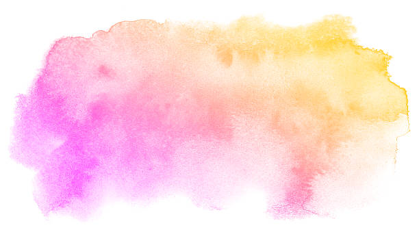 abstract pink watercolor background. - purple watercolor stock pictures, royalty-free photos & images