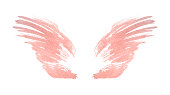 istock Abstract pink watercolor wings in vintage nostalgic colors 1266073376
