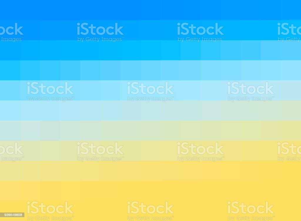 Abstract pixel beach stock photo