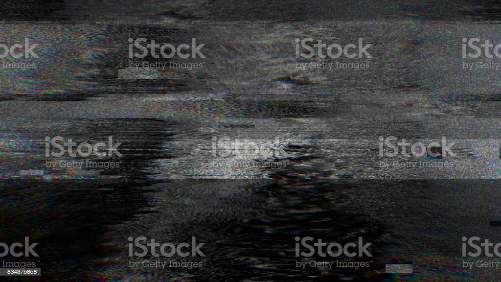 Abstract Pixel Noise Glitch Error Video Damage stock photo