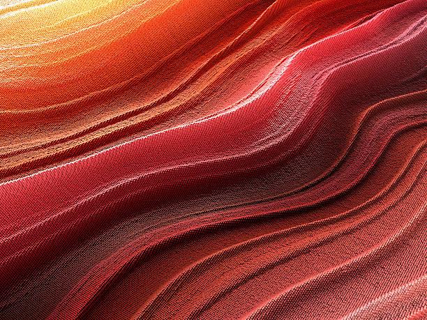 abstract pixelated wave - foto de acervo