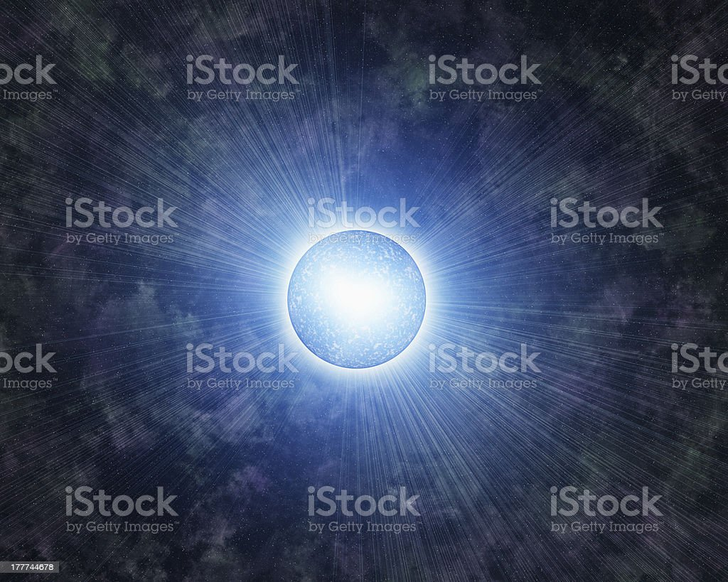 abstract planet on a many stars backgrounds royalty-free stock photo