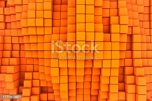 Close-up on an abstract plastic cubes background.